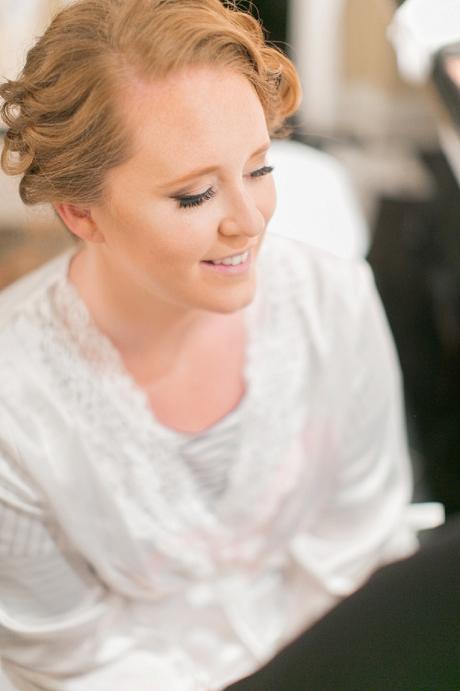 Beautiful bride getting ready for the big day!