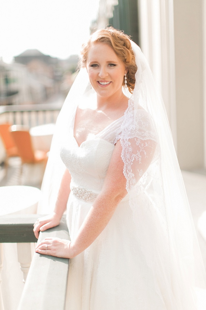 Gorgeous bride at her Saint Louis Cathedral wedding!