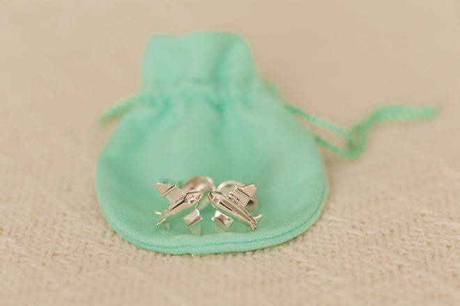 Sweet groom gift of cufflinks!