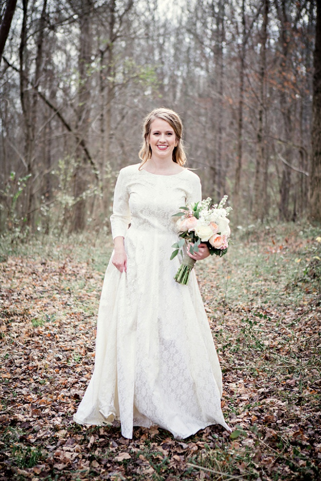 How dreamy is this forest wedding? Swoon!