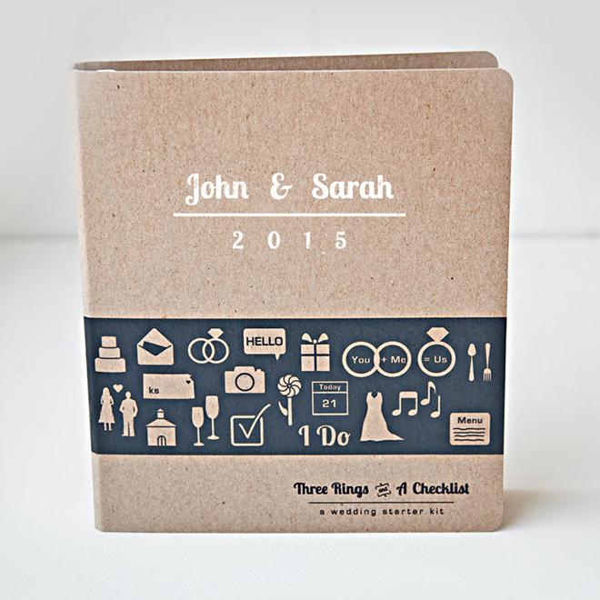 Custom wedding planning starter kit, awesome bride-to-be gift!