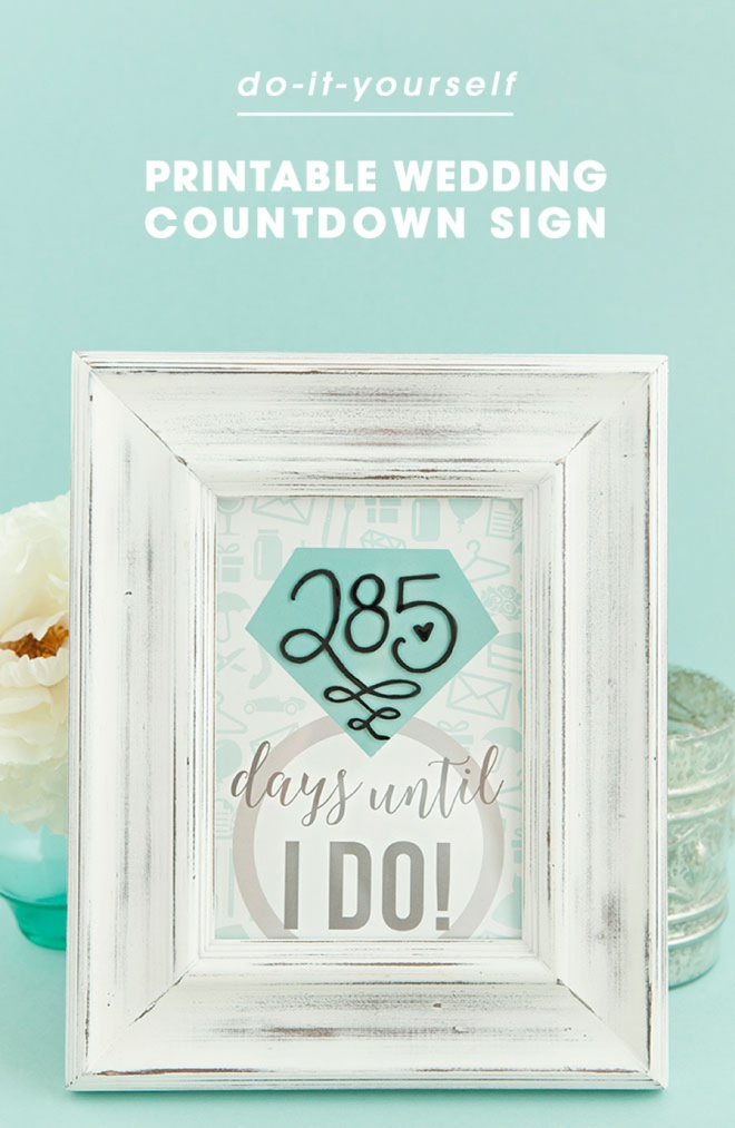 Diy The Most Adorable Quot Wedding Countdown Quot Sign Ever