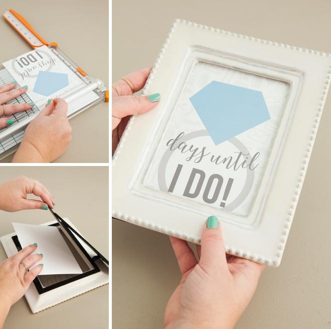 Adorable DIY wedding countdown sign with free printables!