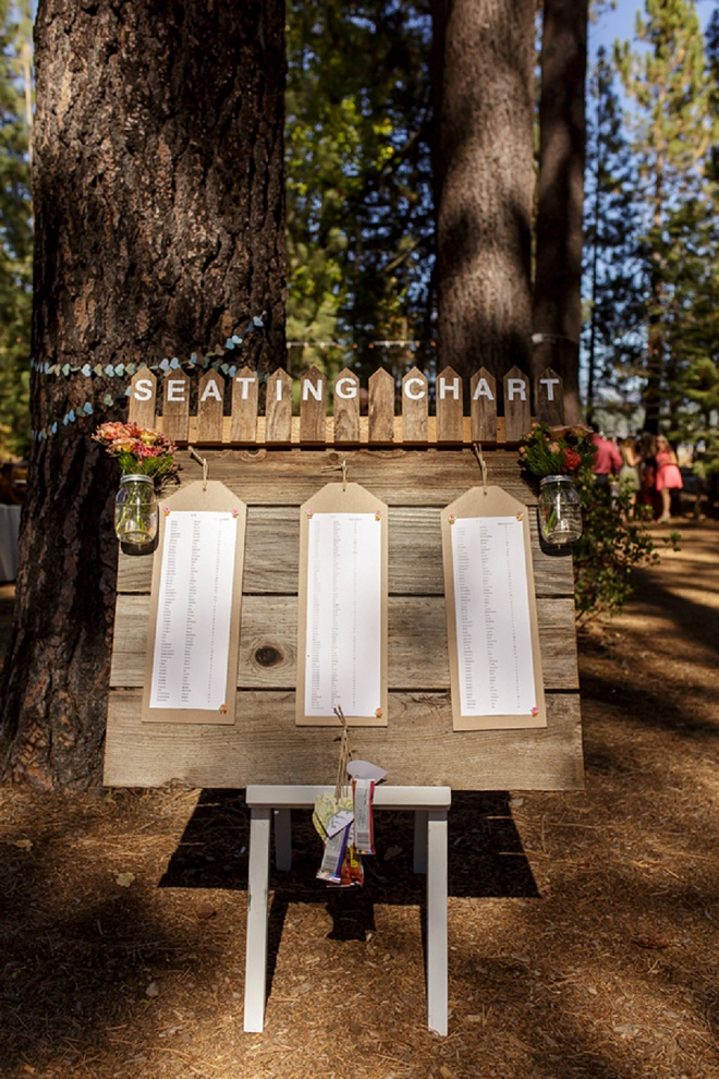 We love this darling rustic seating chart!