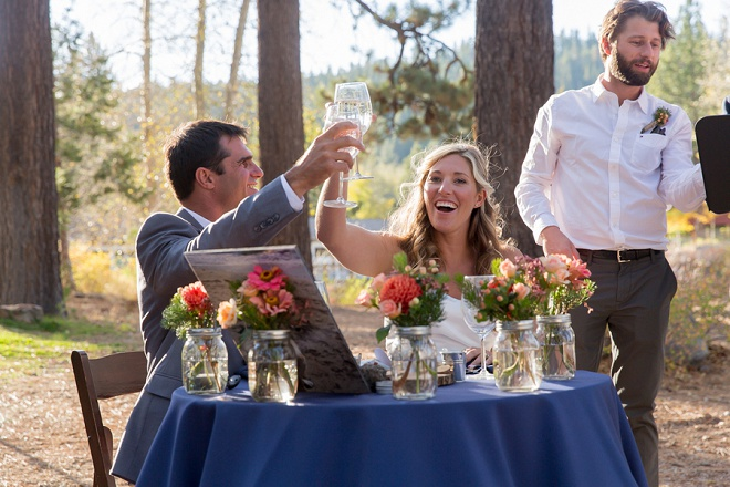 We love this gorgeous DIY outdoor Tahoe City wedding!