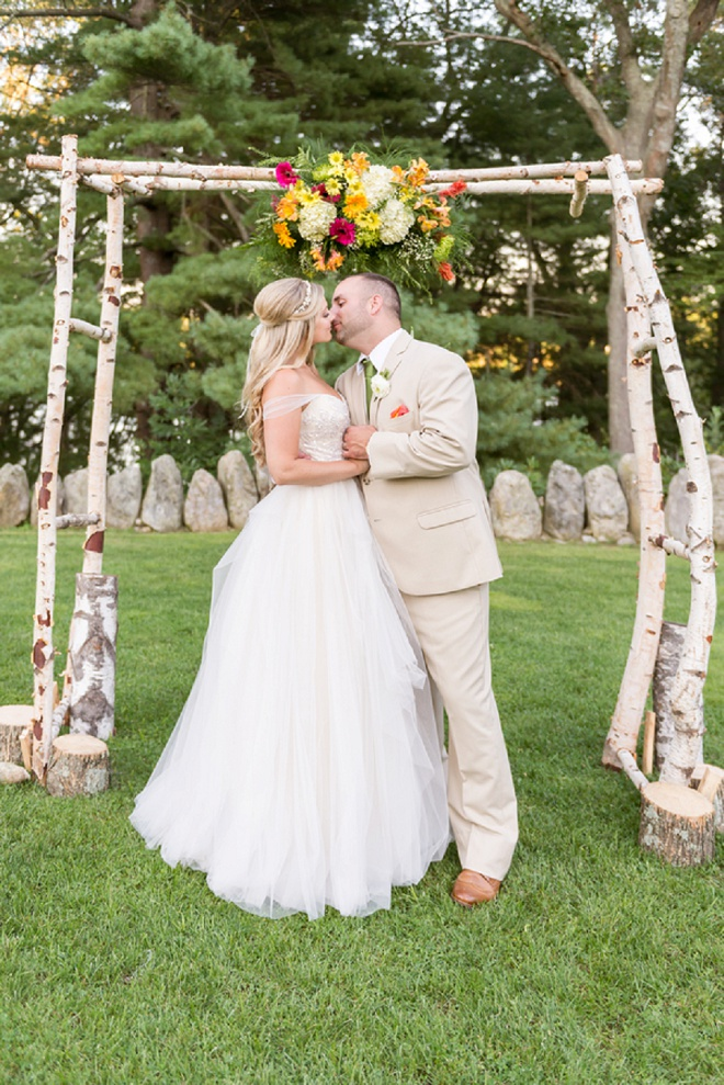We're loving this bright and colorful DIY wedding!