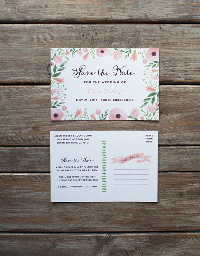 free save the date postcards