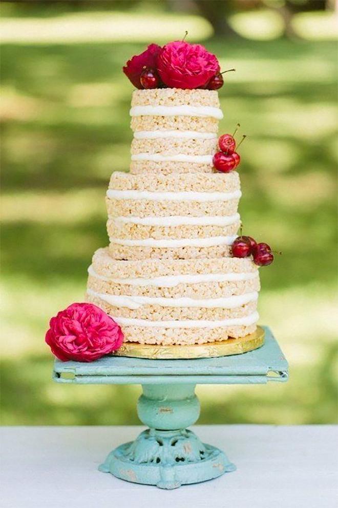 Rice Krispy Wedding Cake