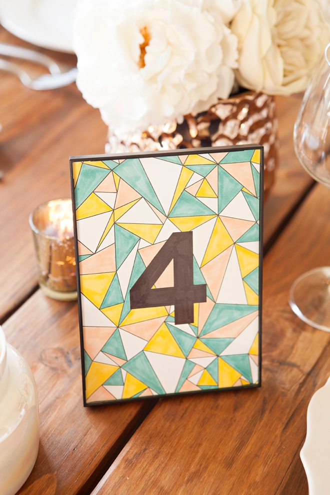 Check out these free printable wedding table numbers that you can color!