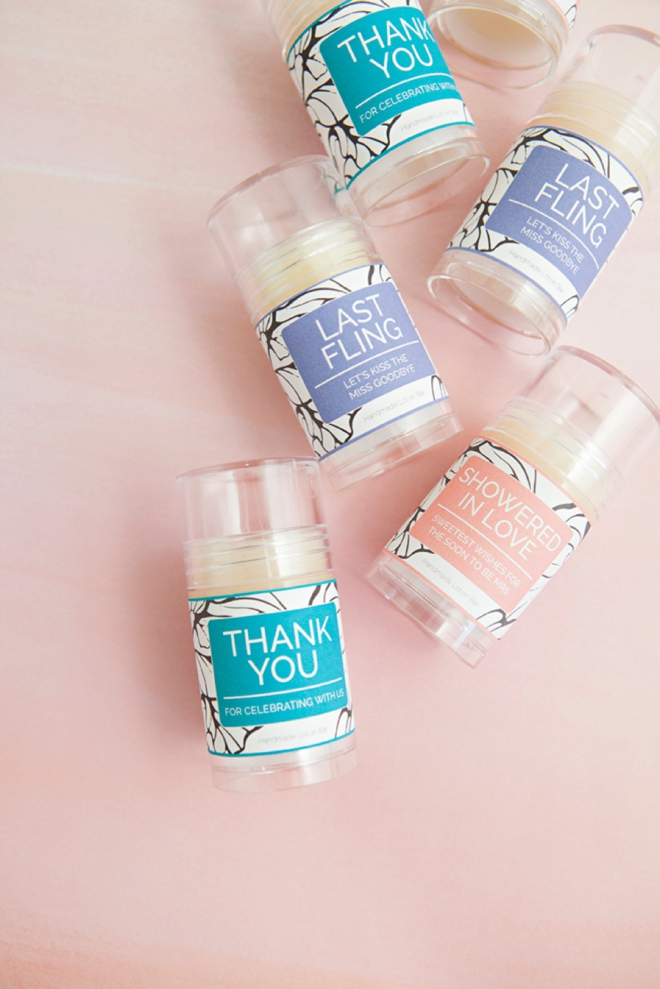 DIY Push-pop Lotion Bars, the kind of favor your guests actually want!