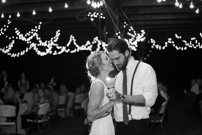 Swooning over this darling first dance and Mr. and Mrs.