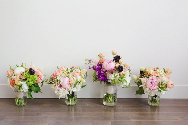 How beautiful and bright are these spring bouquets?! Love!