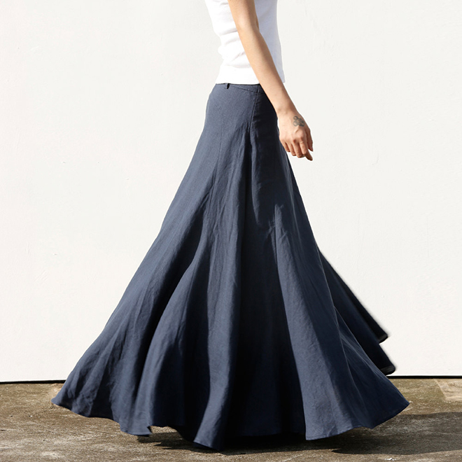 Stunning Linen Maxi Skirt by Sophiaclothing
