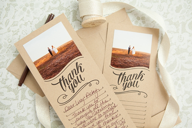 Adorable free, DIY printable thank you cards that you can add a photo to!