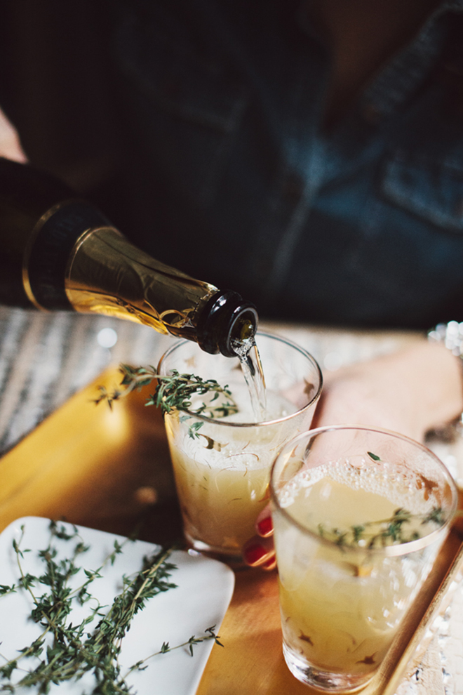 Awesome Pear and Thyme Mimosa Recipe