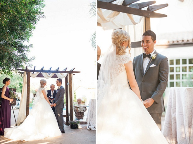 Swooning over this sweet outdoor desert ceremony!