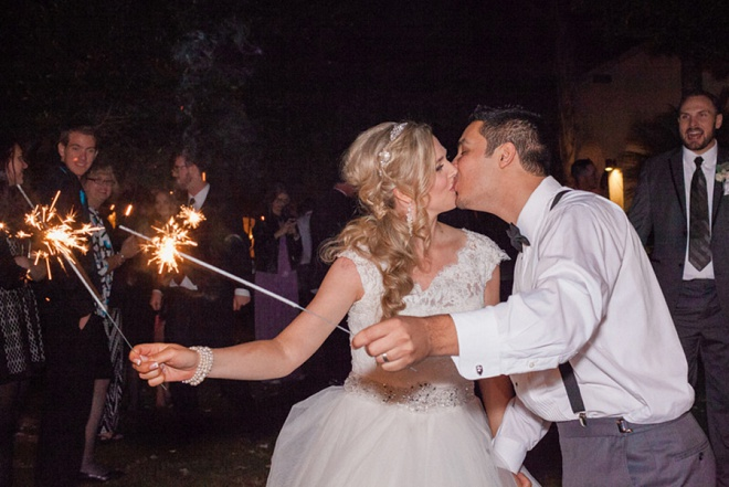 Loving this fun sparkler exit at the end of the night!