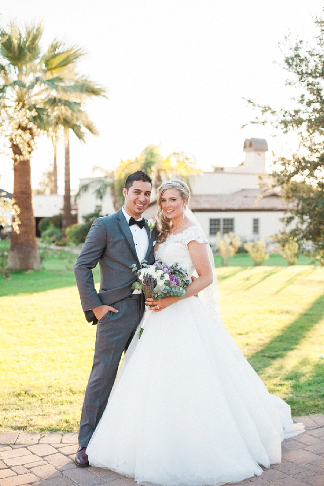 Swooning over this gorgeous Bride and Groom and their dreamy desert wedding!