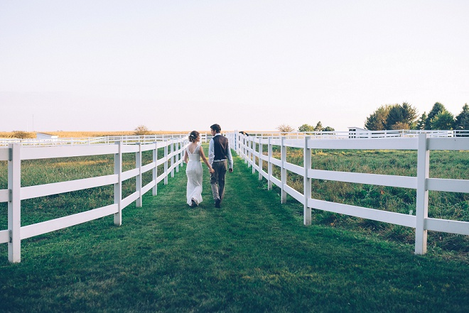 Swooning over this Bride and Groom and their gorgeous barn weddign and reception!