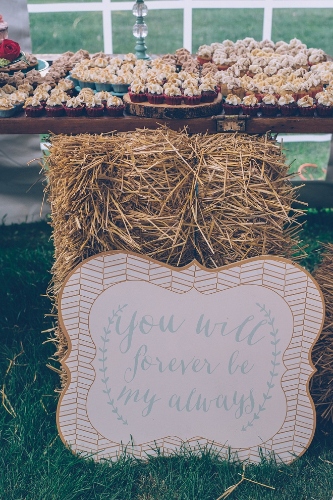Gorgeous signage and details at this gorgeous barn wedding!