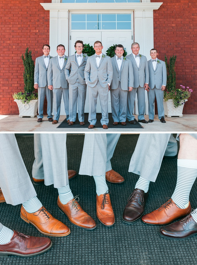 Fun shot of the Groom and his Groomsmen!
