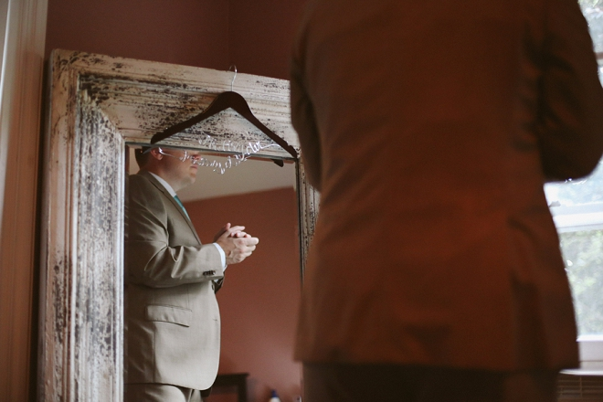 Loving this shot of the Groom getting ready for the big day!