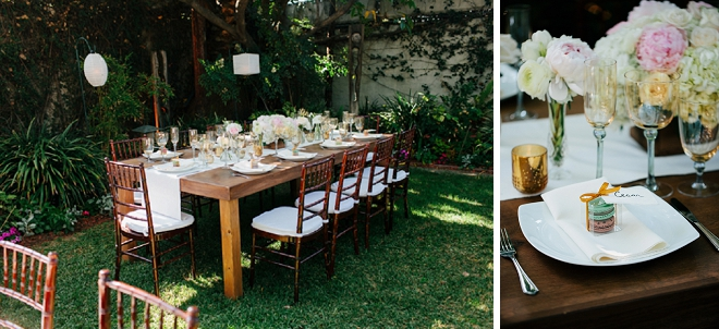 We're loving these gorgeous garden wedding reception!