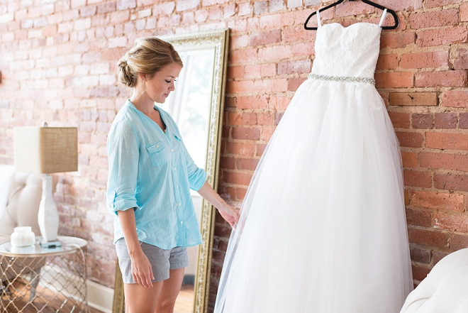 Swooning over this gorgeous classic wedding dress before the Bride's big day!
