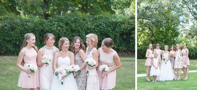 We're loving this sweet Bride and her gorgeous Bridesmaid's!