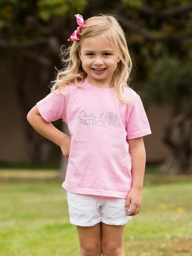 Use our free Cricut cut files to make this darling Petal Patrol shirt!