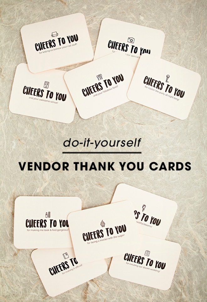 Awesome And Darling FREE Printable Wedding Vendor Thank You Cards