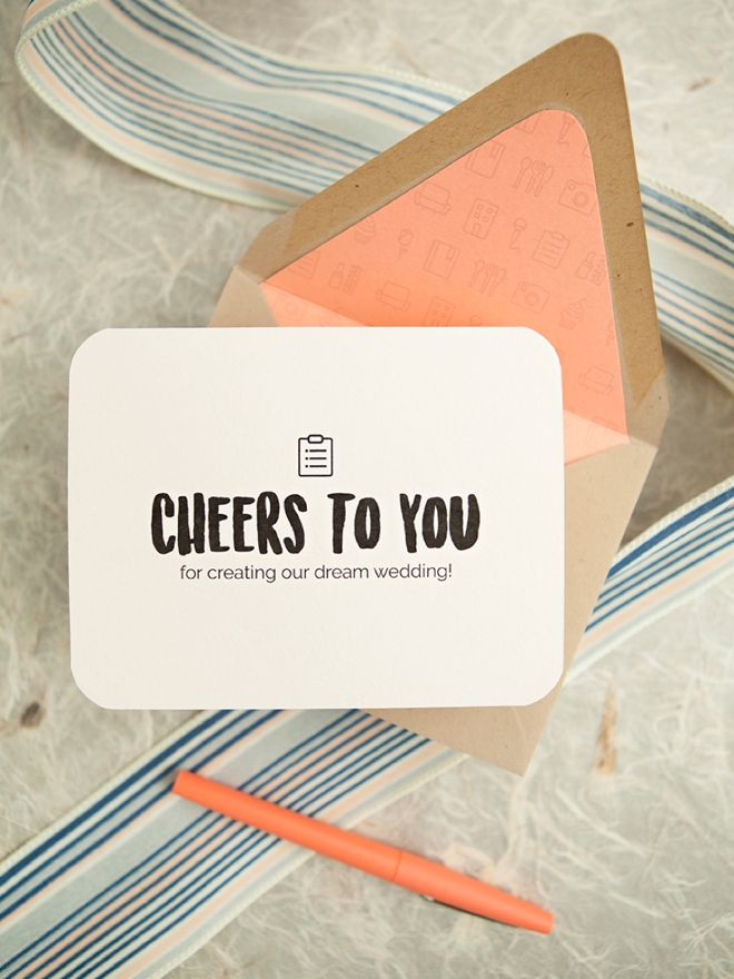 Awesome and darling FREE printable wedding vendor thank you cards!