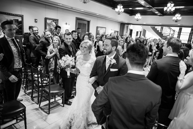 We're loving this Bride and Groom and their touching ceremony!