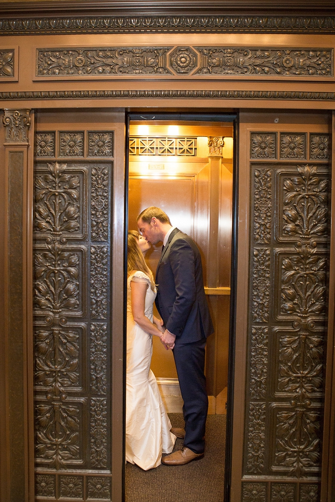 DYING over this gorgeous elevator photo of the Mr. and Mrs!