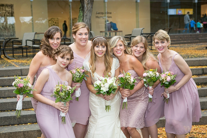 We're loving this sweet Bride and her gorgeous Bridesmaids style for the big day!