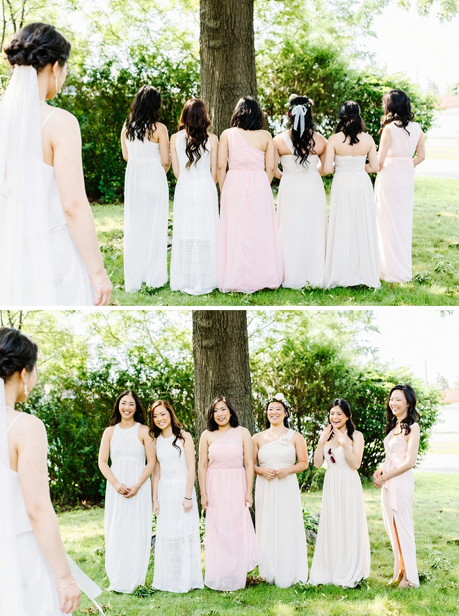 Such a FUN first look with the Bride and her Bridesmaids! We're in LOVE!