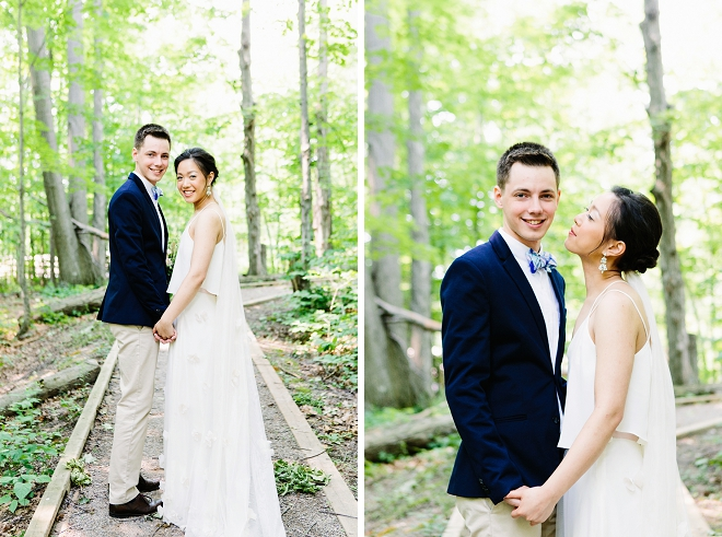 We're crushing hard on this gorgeous couple and their magical outdoor wedding