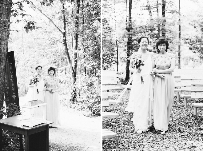 Such a sweet snap of the Bride and her Mom walking down the aisle!