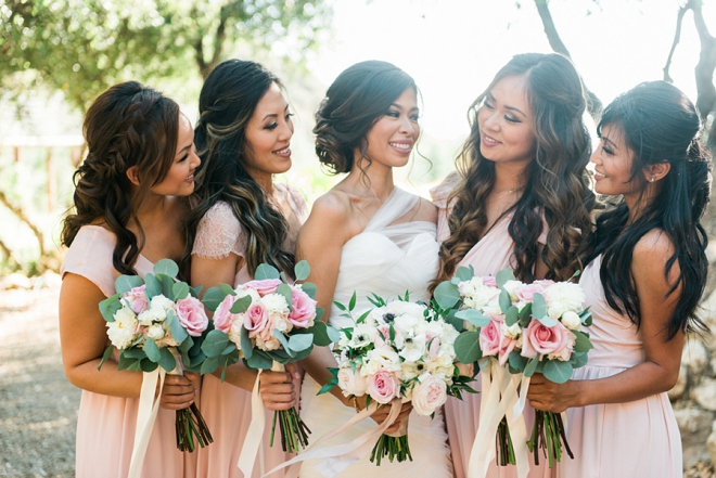 Loving this fun shot of the Bridesmaids and the Bride before the big day!