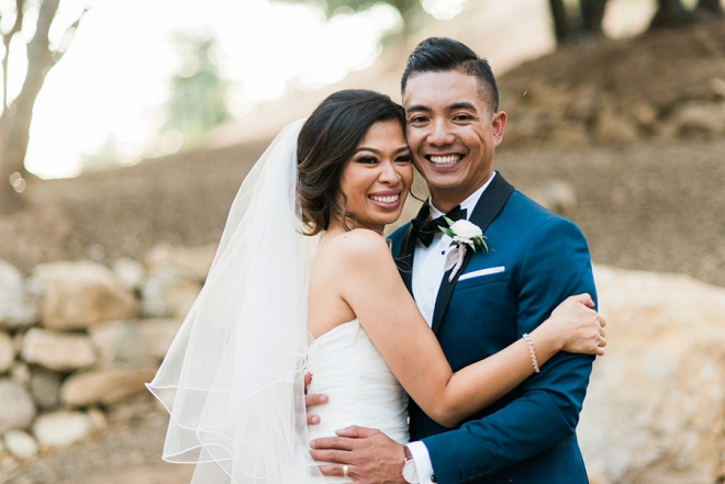 We're loving this gorgeous Bride and Groom at their dreamy California wedding!