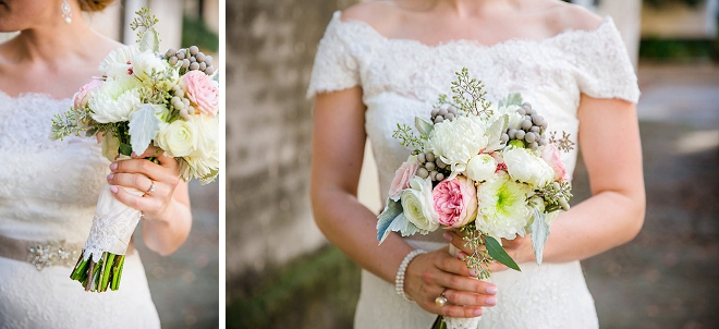 We're in love with this Bride's classic wedding style and modern bouquet!