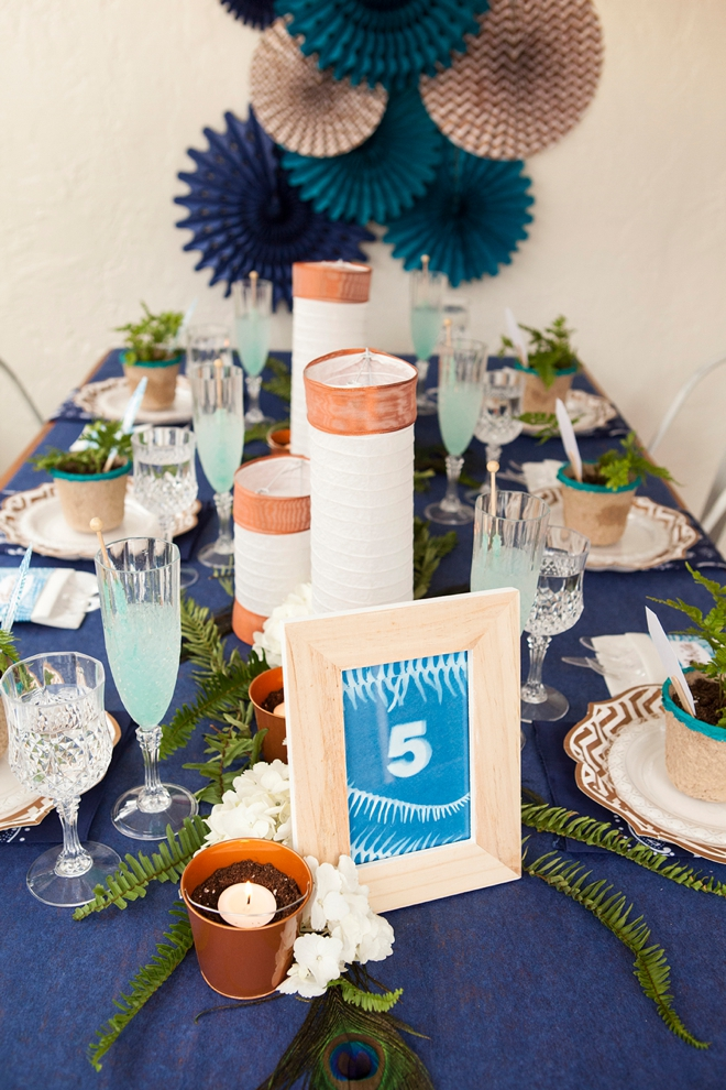 Check out this DIY boho wedding tablescape by Something Turquoise for Oriental Trading