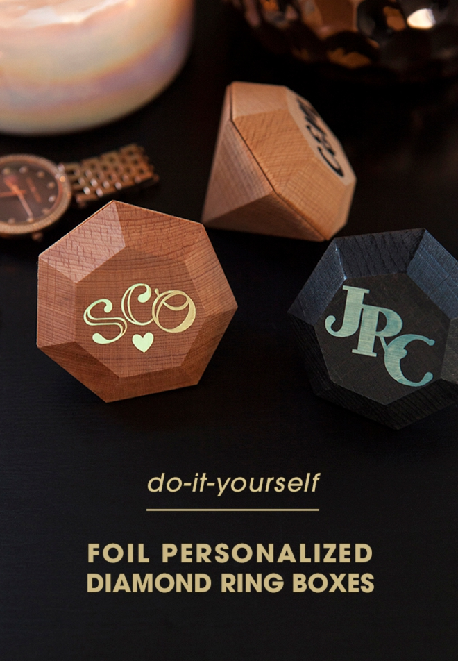 Learn how to easily personalize these diamond boxes with custom foil monograms!
