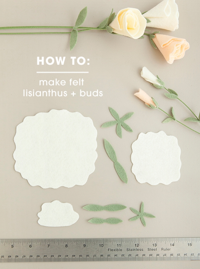 All the petals you'll need to make the most darling felt lisianthus flowers!