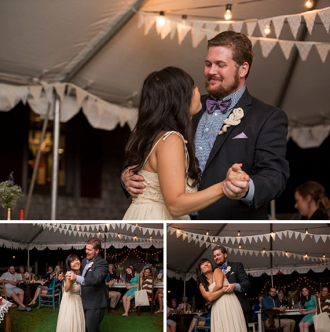 Loving the sweet snaps of this couple's first dance as Mr. and Mrs!