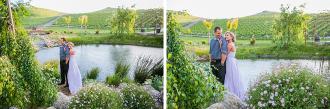 We're swooning over this gorgeous vineyard engagement session!