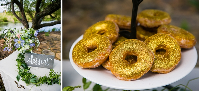 How cute are these gold glitter donuts?! LOVE!