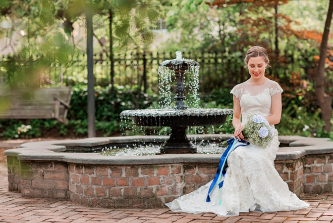 We can't get over this stunning Bride and her unique bouquet before her big day!