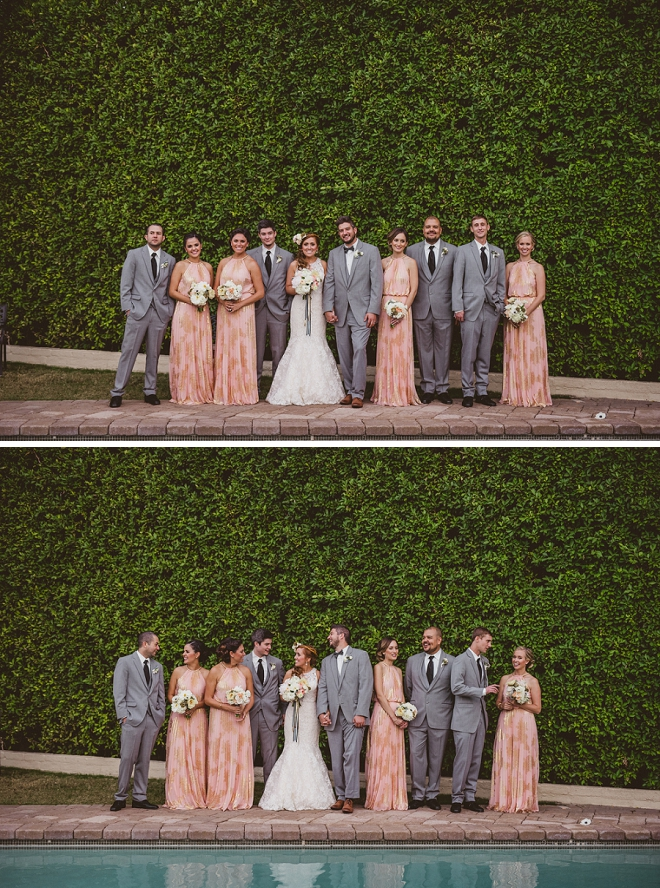 Loving this gorgeous bridal party before the outdoor reception!