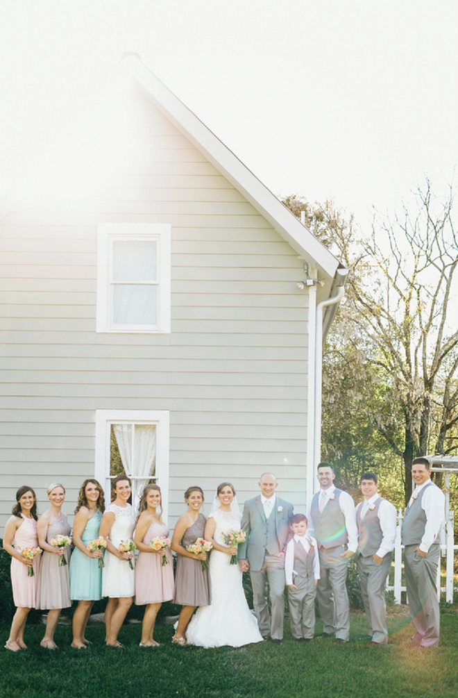 We're in love with this rustic wedding and this fun bridal party!
